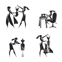 Tailor shop icons. Vector format