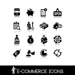 E-Commerce & Shopping  Icons - Vectors Set