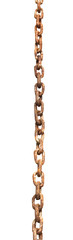 rusty metal chain isolated on white