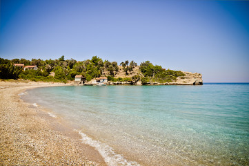 Paradise Megalo Seitani beach, Samos, Greece