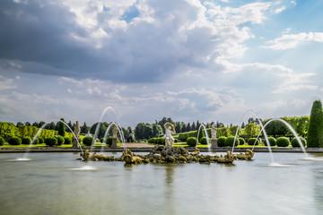 Fountains in the upper Park in Peterhof , St. Petersburg