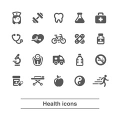 Health icons set.