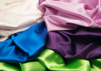 heap of cloth fabrics