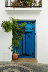 Spanish village blue door
