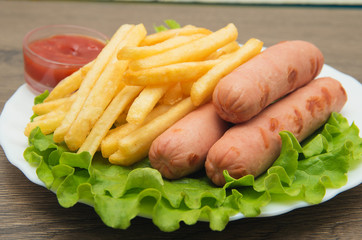 French Fries, Sausages
