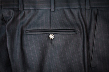 photo of male classic trousers with back pocket