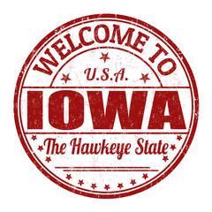 Welcome to Iowa stamp