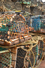 Lobster Cages on the Harbour