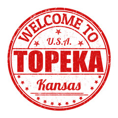 Welcome to Topeka stamp