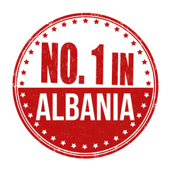 Number one in Albania stamp