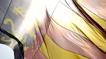 Bandera de Valencia contraluz