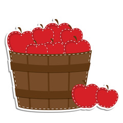Apples in a barrel or basket