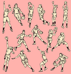 Woman Basketball Action Sport