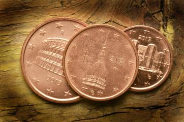 Monete euro italiane Italian euro coins Włoskie monety