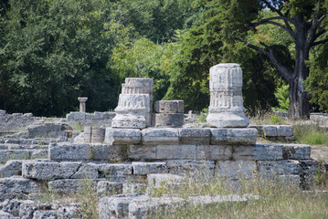 Columns of the ruins of Paestum