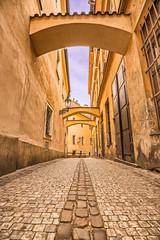 Pedestrian alley in Prague