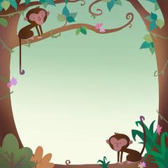 marco con monos