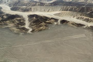 Aerial view of Nasca lines, Peru
