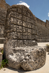an ancient Mayan throne