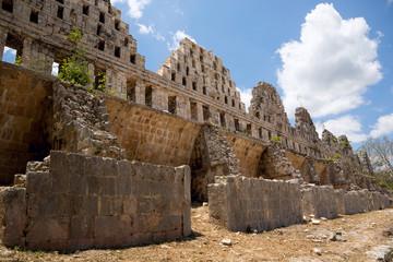 ancient Mayan temple ruins