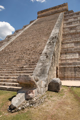 Mayan temple stairs