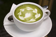 Green tea Latte/coffee art