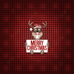 Reindeer Christmas red fresh cute design