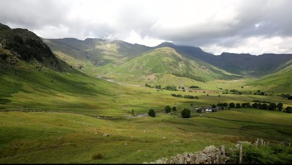 Langdale Valley Lake District Cumbria on walk to Blea Tarn