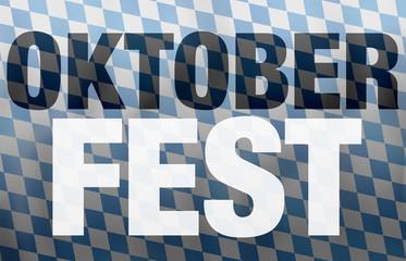 Bavaria Oktoberfest Flag Background Design
