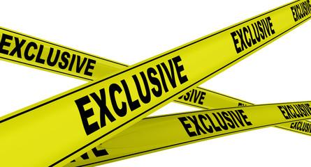 Эксклюзивный (exclusive). Желтая оградительная лента