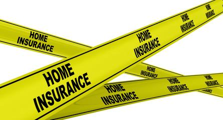 Страхование недвижимости. Желтая оградительная лента