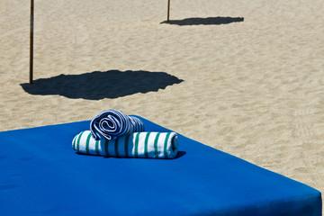 Beach towels at a beach resort