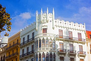 Neoclassical buildings in Valencia, Spain.