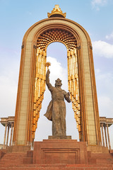 Statue of Somoni. Dushanbe, Tajikistan