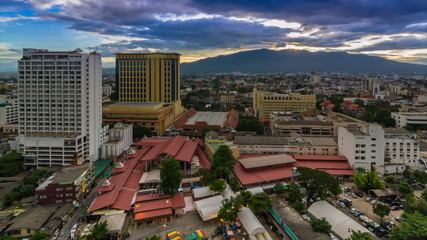 Time Lapse Day To Night Cityscape Of Chiang Mai, Thailand