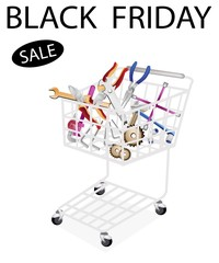 Auto Repair Tool Kits in Black Friday Shopping Cart