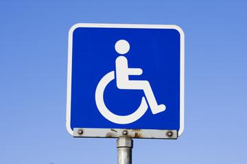 Disabled parking, handicapped parking.