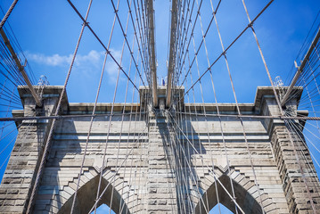 The Brooklyn Bridge, connecting New York City's Manhattan and Br