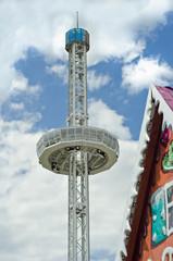 Volksfest Fahrgeschäft Riesenrad Aussichtsplattform