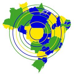ブラジル 国 地図