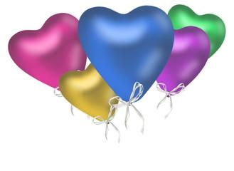 bunte Herzluftballons