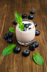 blueberry yogurt with fresh berries