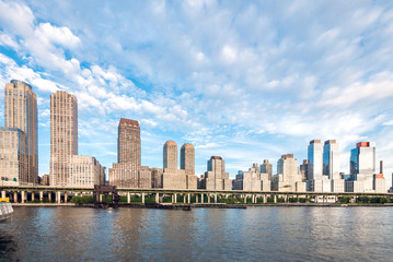 West side midtown and uptown Manhattan skyline from Hudson River