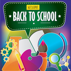 Back to school bright banner