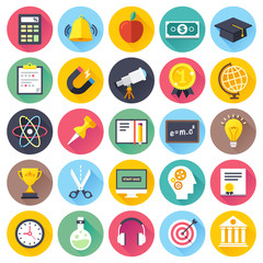 Education and e-learning vector illustrations.
