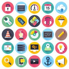 SEO and web development icon set