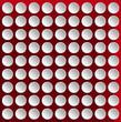 Circles on a Red Velvet Background