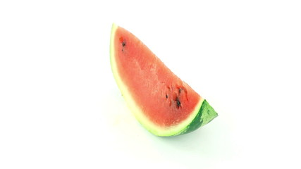 Watermelon rotates on a white background loop