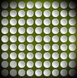 Circles on a Green Velvet Background