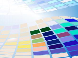 abstrakt wellen farben bewegung